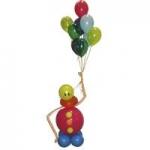 6. Клоун с пучком шаров (воздух,гелий+хай-флот)-900р.