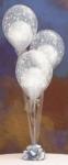 """22. Настольная композиция """"Свадебная"""". Шары-латекс с рисунком(дизайнерский) 3 шт.,шар в шар гелий - 500р."""