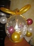 30.Шампанское в шаре(воздух)-от-400р.(без наполнения).