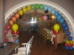 """41. Детский день рождения в кафе""""Бельканто"""" на Тверской.Радуга,смайлики на ножках.Латекс,гелий,воздух."""