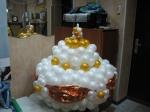 51. Торт со свечой d=1м.Латекс,воздух-1700р.