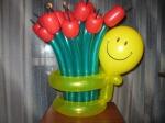"""2. """"Букет тюльпанов"""". Латекс,воздух-1100р."""