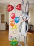 19. Ходячий заяц и букет. Латекс,фольга,гелий,воздух-1700р.